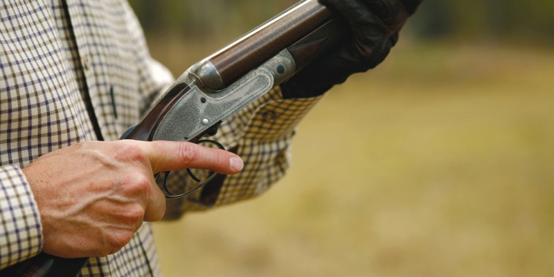 Man Hunting with a Shotgun – clipping path
